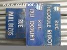 plaques de rue , panneau signalisation